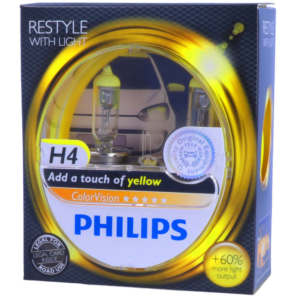 Whitevision H7 H4 Philips Colorvision Gelb - Styling - Scheinwerfer Lampe