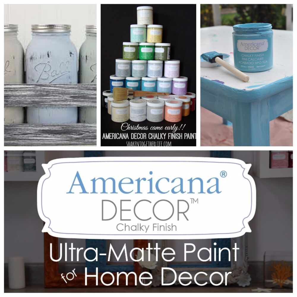 Americana Decor Chalky Finish Americana Decor 8oz Chalk Finish Paint 43 Colors To Choose From Ebay