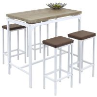 Angie Counter Bar Set 5 Pc Breakfast Table And Chairs ...