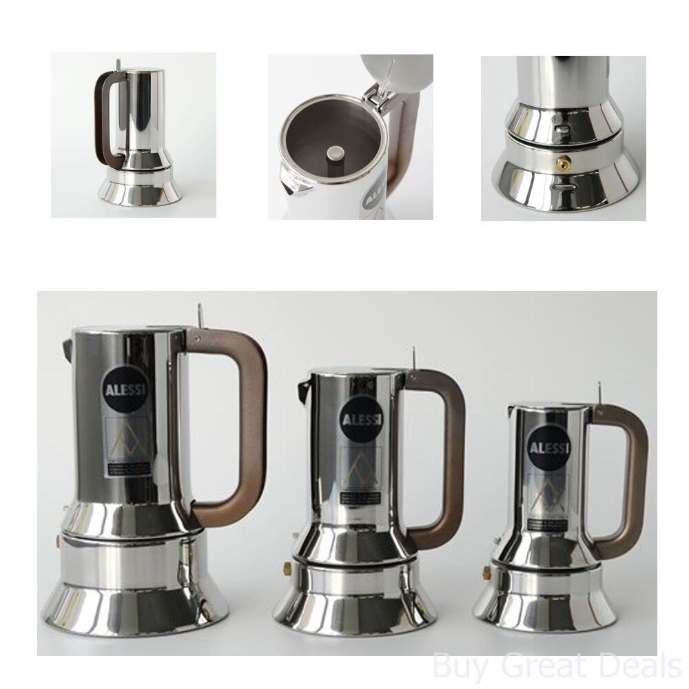 Alessi Espressokocher New Alessi 9090 3 Stove Top Espresso 3 Cup Coffee Maker In 18 10 Stainless Steel 8003299011766 Ebay