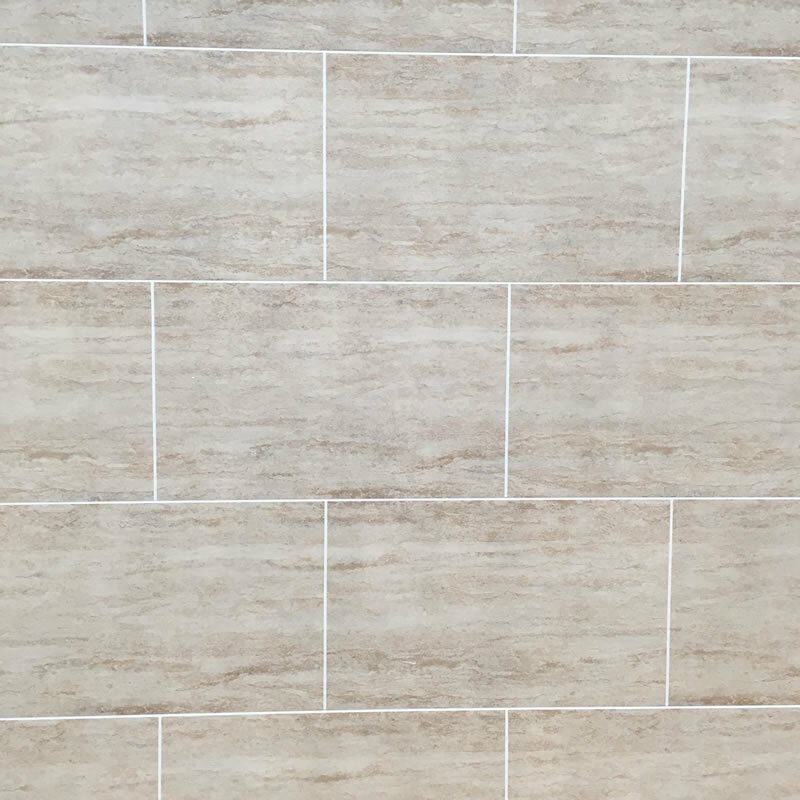 3d Stone Effect Wallpaper Uk Travertine Tile Effect Bathroom Wall Cladding Pvc Shower