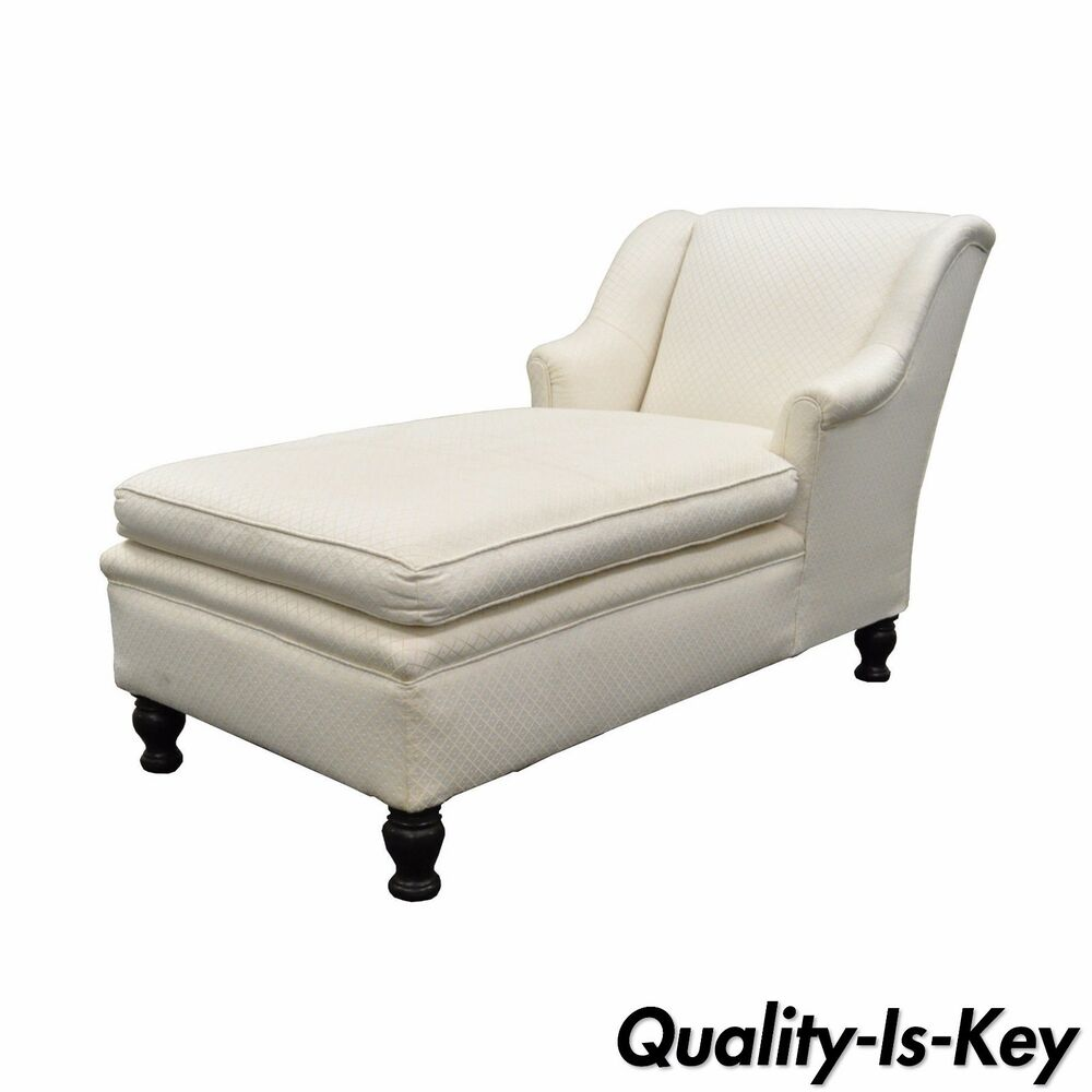 Chaise Style Antique French Empire Style Chaise Lounge Fainting Couch Sofa Bun Feet Recamier Ebay