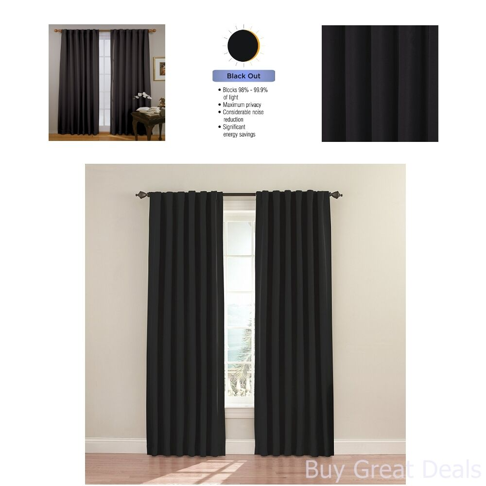 Curtain For Double Window Cheap Window Door Curtains Double Panel Thermal Blackout Drape Living Room Shade Ebay