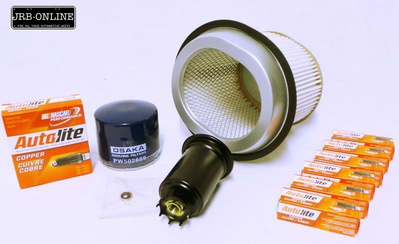 MITSUBISHI GALANT 20L 4G63 OIL AIR FUEL FILTER SERVICE KIT+SPARK