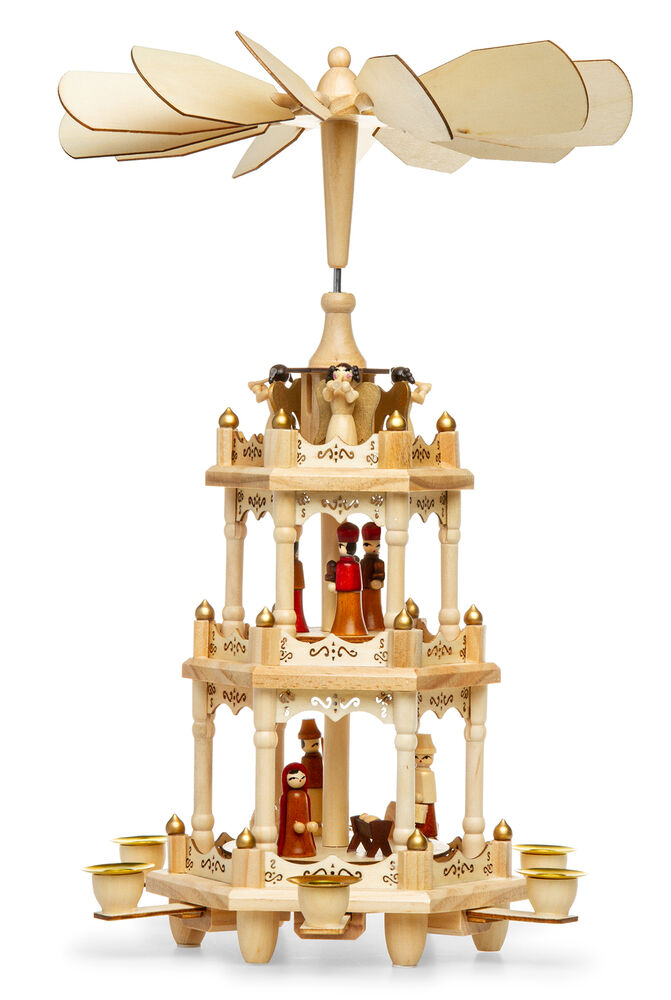 Led Weihnachtspyramide Sikora P3 Traditional Wooden Christmas Pyramid Three Levels Wax Candles H 17 7in 4250799603562 Ebay