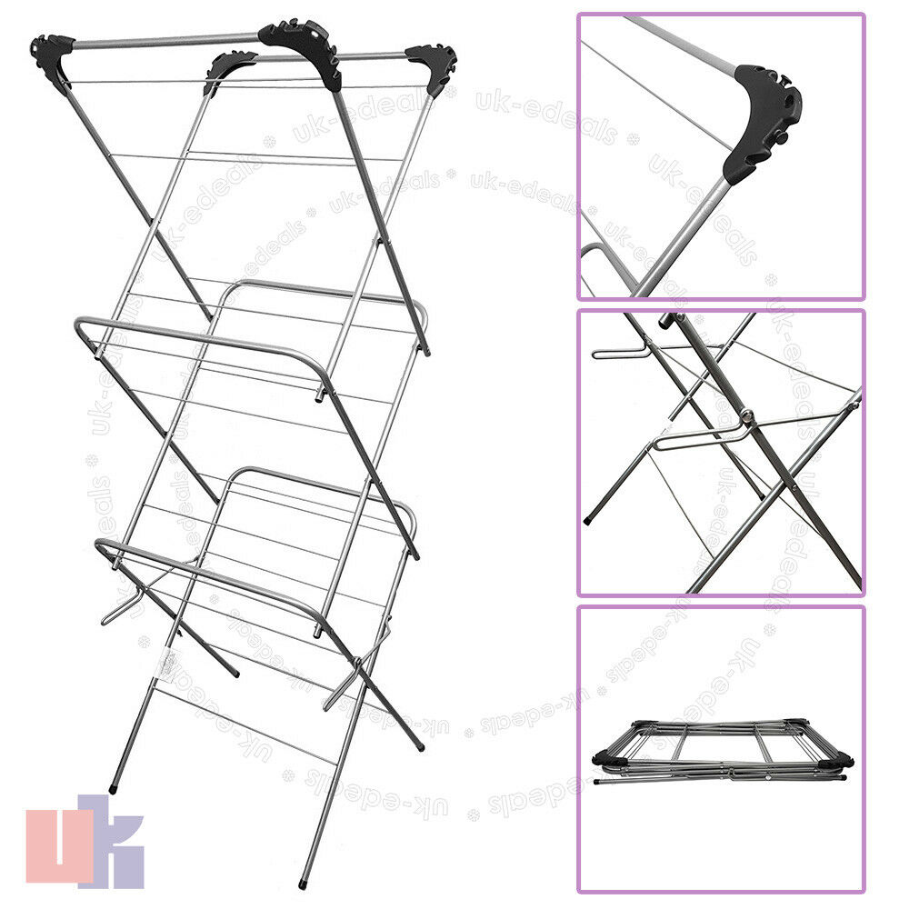 Seche Linge Exterieur 3 Tier 12m Cloth Airer Tower Indoor Outdoor Dryer Laundry Folding Rack Tall Uked Ebay