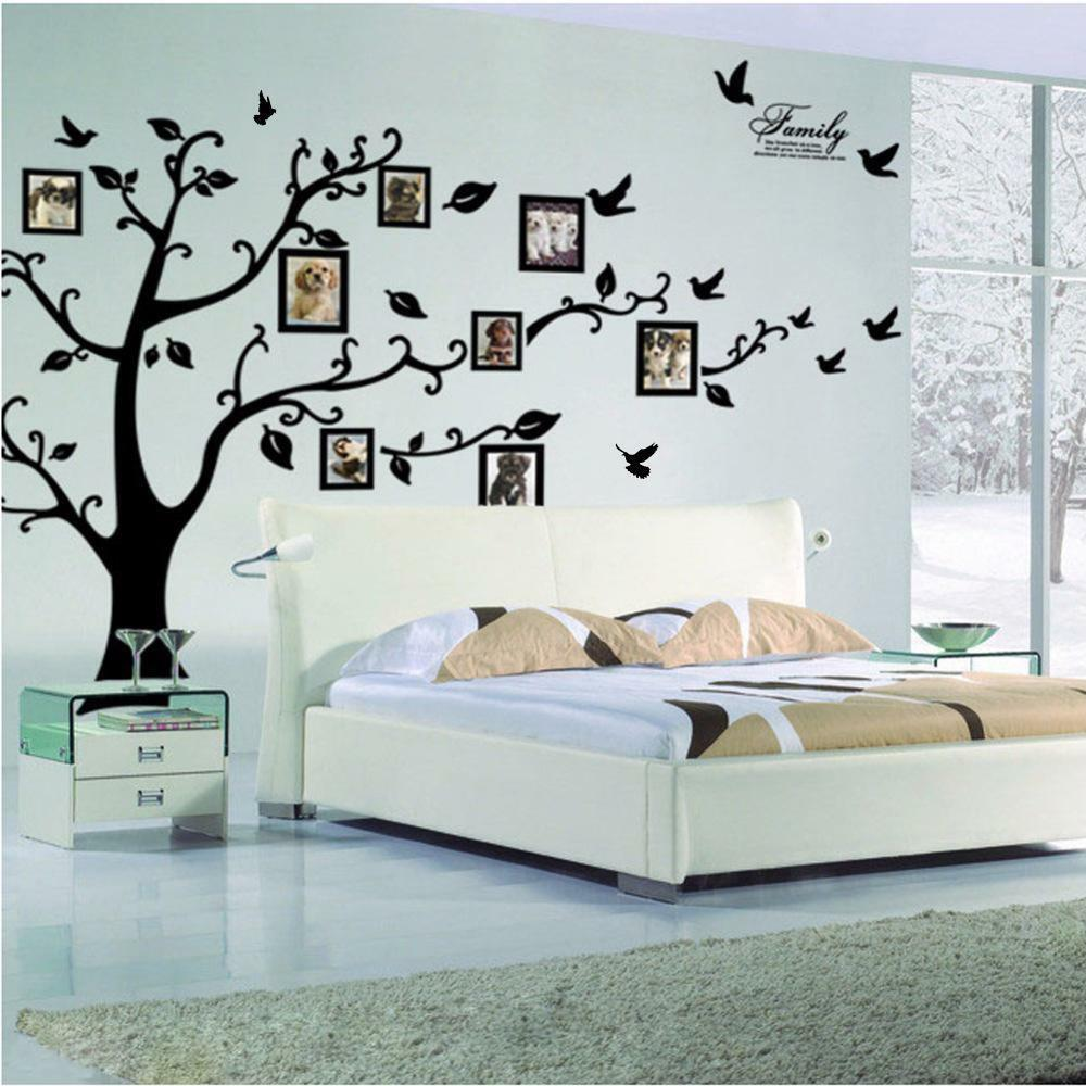 Décoration Murale Adhésive Large Black Family Tree Wall Stickers 3d Adhesive Mural Art Pvc Home Decor Diy Ebay