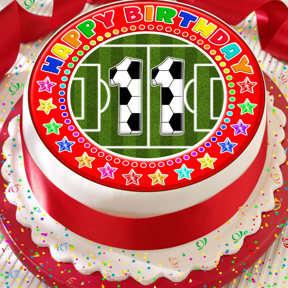 Football Kuchen Football Red Your Age Birthday 7 5 Inch Precut Edible Cake Topper Decoration K45 Ebay