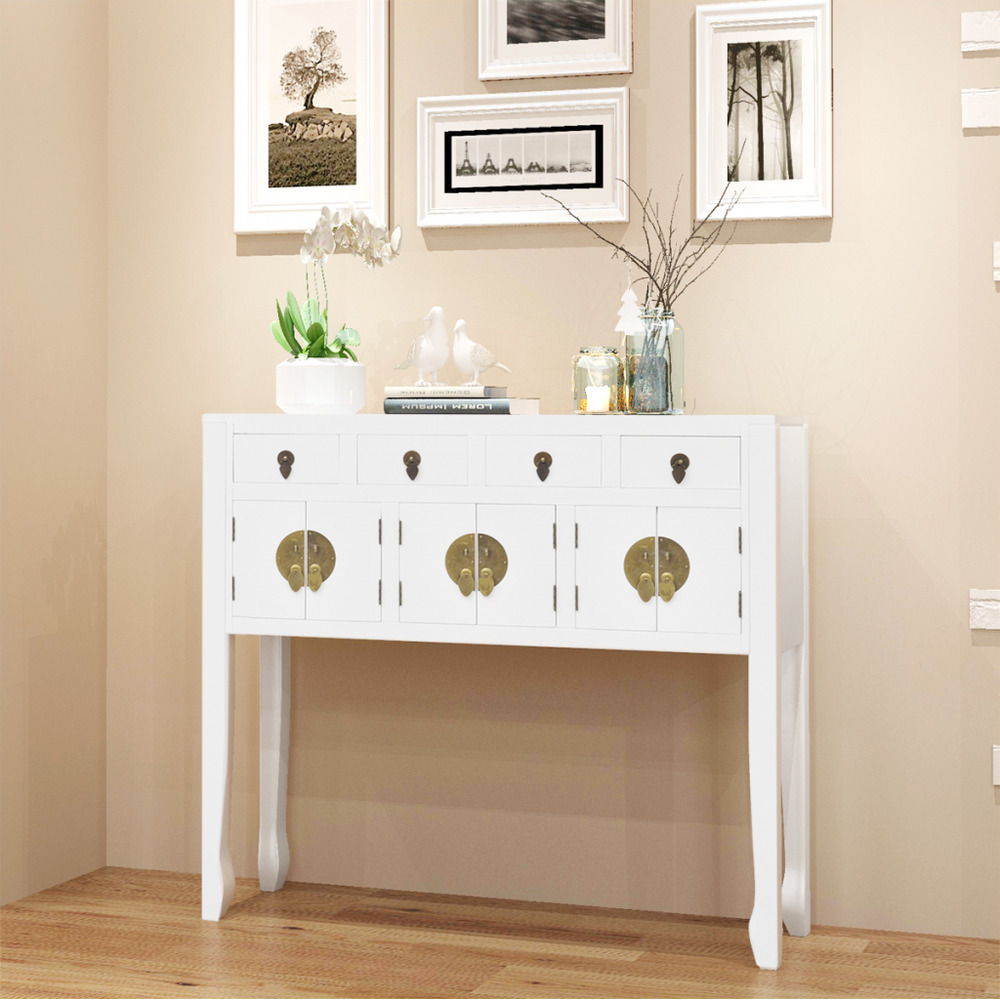 Cupboard Drawers White Sideboard Chinese Asian Style Cabinet Solid Wood Hallway Cupboard Drawers 659360054613 Ebay