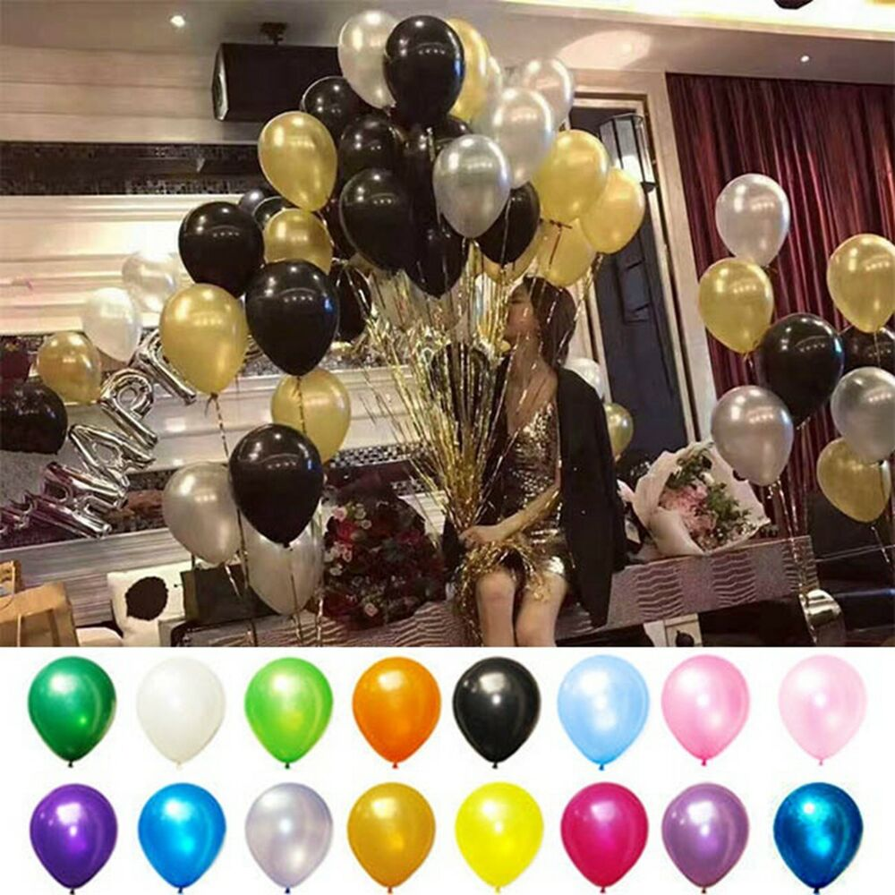 Decoration De Ballon 100pc 10inch Latex Balloons Wedding Birthday Party Baby Shower Decoration Ballon Ebay