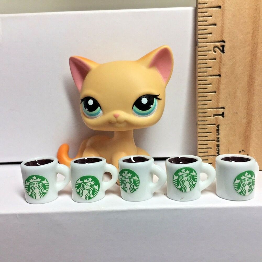 Animal Coffee Cups Littlest Pet Shop Lps Accessories 5 Starbucks Frappe Coffee Cups White Ebay