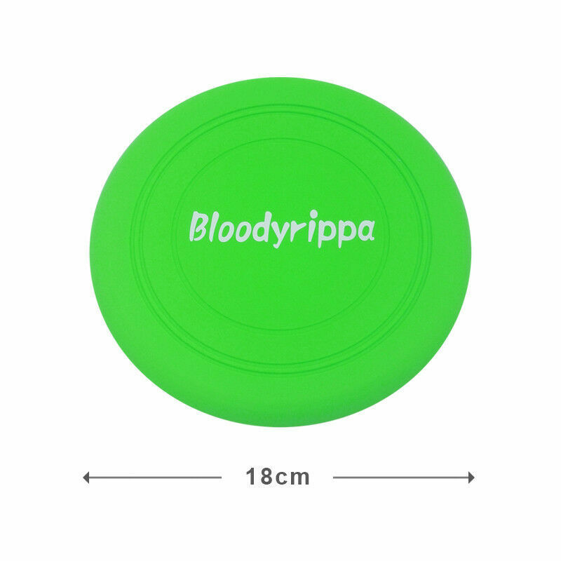 Dog Puppy Fetch Training Toy Flying Disc Silicone Frisbee Kids Toy