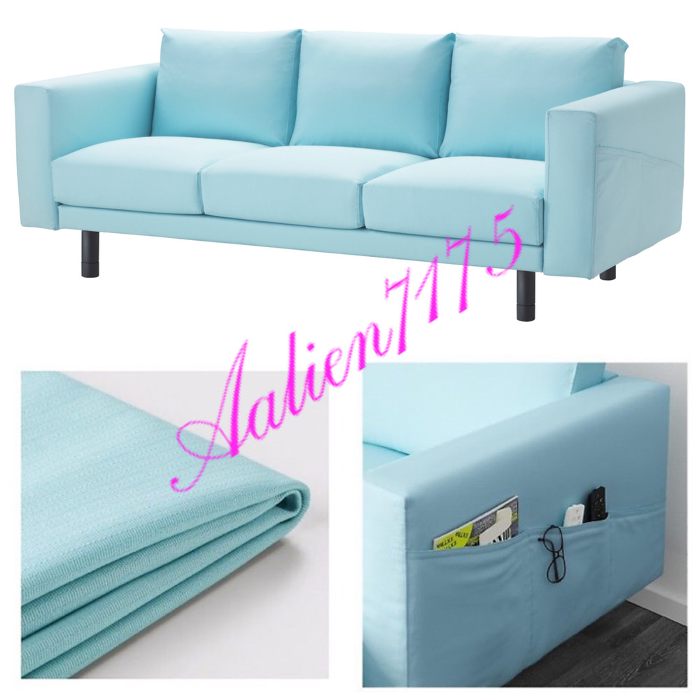 Bettsofa Ikea Blau Ikea Norsborg Sofa Slipcover Cover Edum Light Blue Cover Only W Armrest Nib Ebay