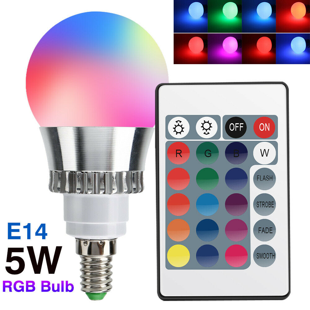 Led Bulbs Rgb Led Bulb E27 E14 16 Color Changing Light Candle Bulb Rgb Led Spotlight Lamp Ac85 265v Memory Sync 5w E14 Dimmable Rgb Multi Color Led Light Bulbs 60