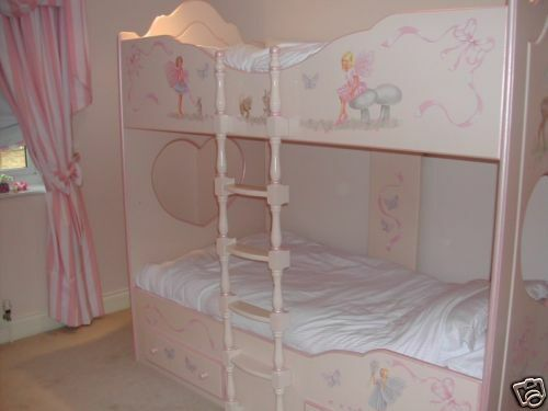 Divan Beds Chartley Bunk Beds Girls Fairies Beautiful Fairy Bed | Ebay