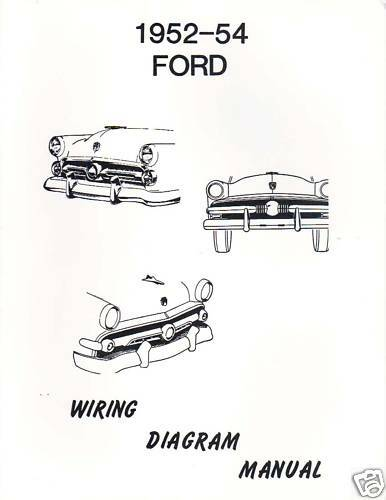 1952 ford truck wiring diagram