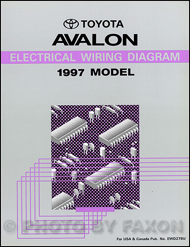 1997 Toyota Avalon Electrical Wiring Diagram Manual NEW Condition