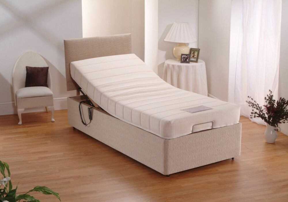 Elektrische Betten 3ft Single Electric Adjustable Chenille Bed + Memory Foam