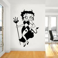Devil Chick, Betty Boop Giant Wall Art,Sticker Mural,Large ...