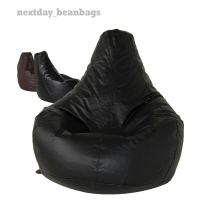 Bean Bag GAMING CHAIR beanbag Faux Leather with High Back ...