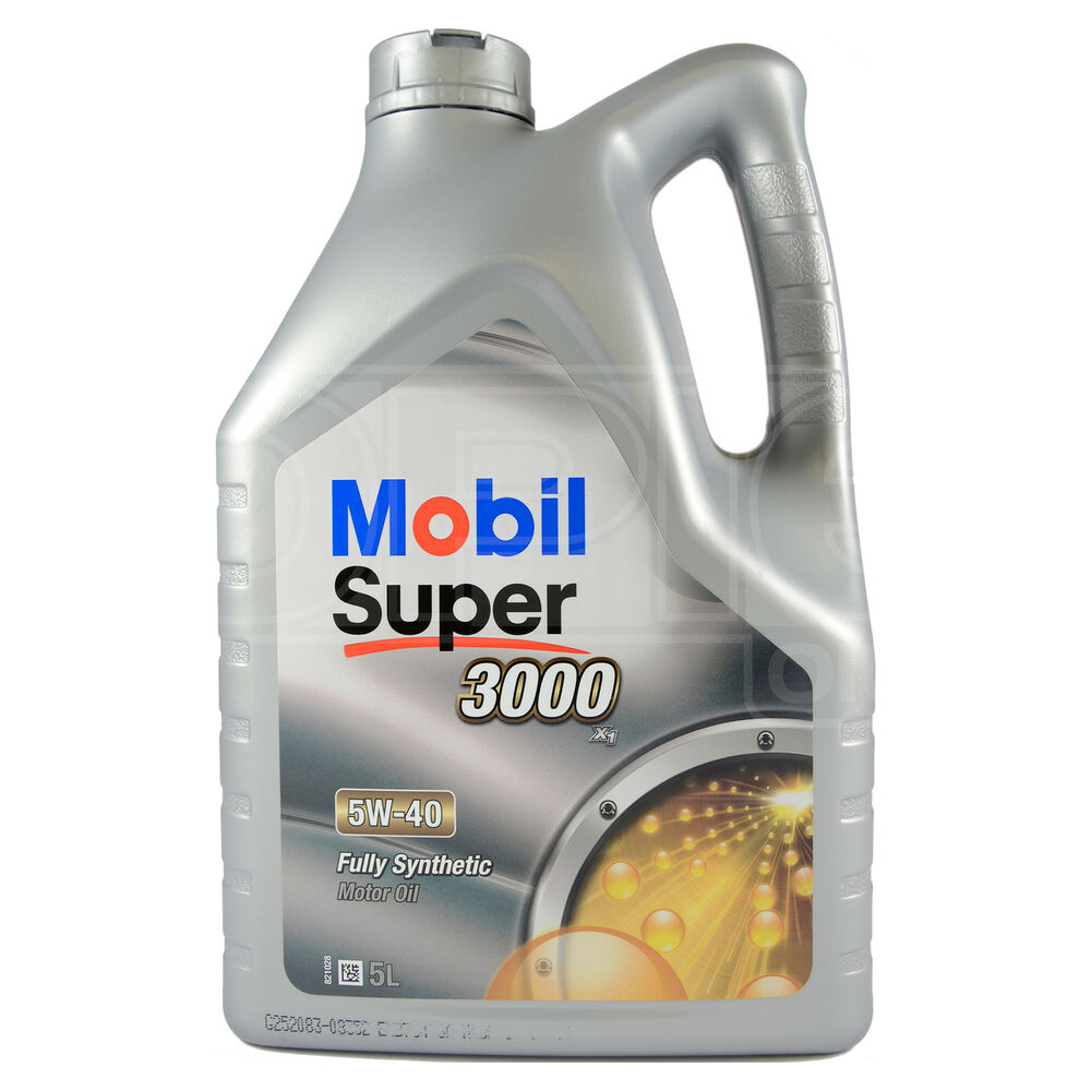 5 W 40 Mobil Super 3000 X1 5w 40 Fully Synthetic Engine Motor Oil 5 Litres 5l 691040797854 Ebay