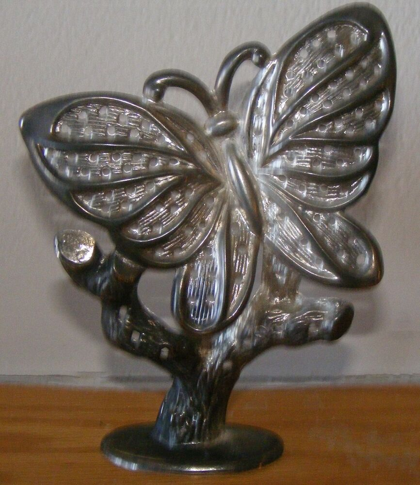 Silverplated Metal Butterfly Earring Holder Display