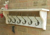 Reclaimed wood Coat & Hat Rack with shelf Shabby Chic ...