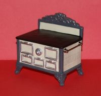 PORCELAIN STOVE-White- Dollhouse Miniature Kitchen ...