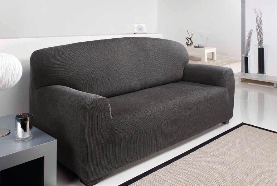 Couch Ebay 3 Seater - Easy Stretch Elastic Fabric Sofa / Settee Slip
