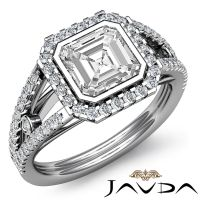 Flashy Asscher Diamond Ideal Engagement Ring GIA Certified ...