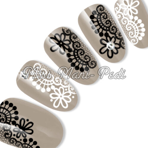 Nail Art Water Slide Transfers Decals Stickers Black