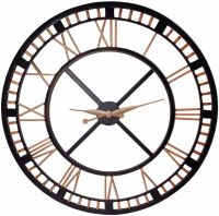 extra large wall clock-large iron wall clock with roman ...