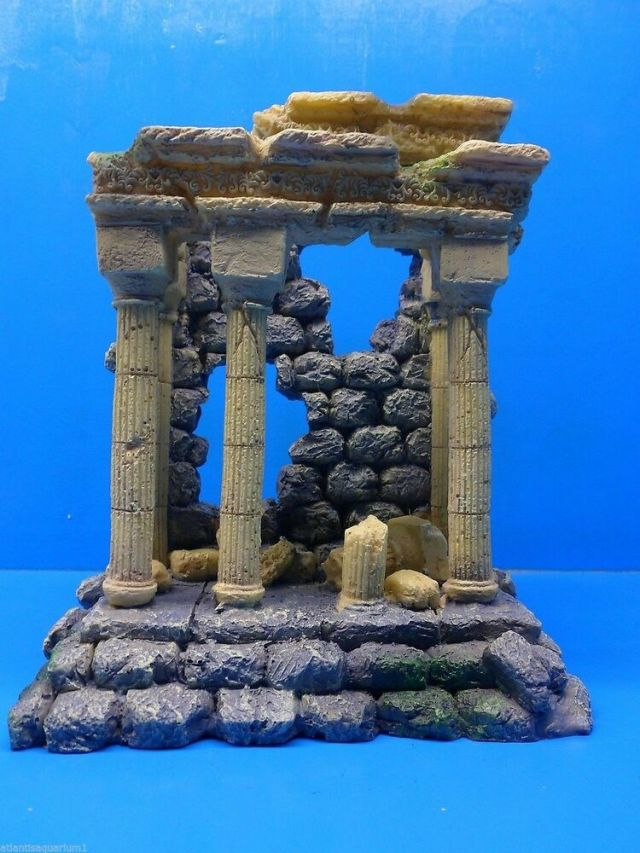 Greek Roman Ruins AR003 Large Resin Aquarium Decoration Hand Painted