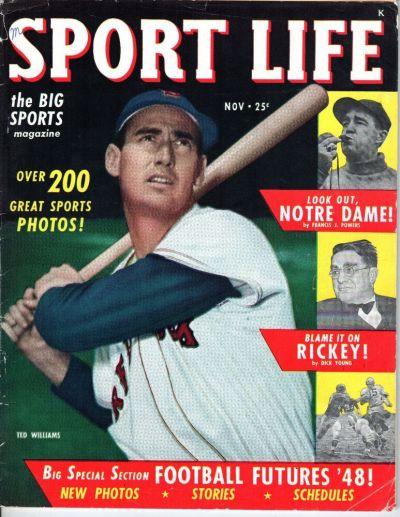 1948 (Nov.) Sport Life, Baseball magazine, Ted Williams ...