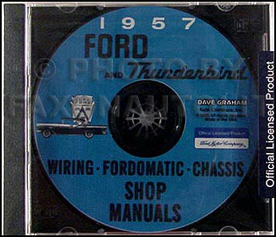 1957 Ford Shop Manual and Transmission Repair CD 57 Fairlane