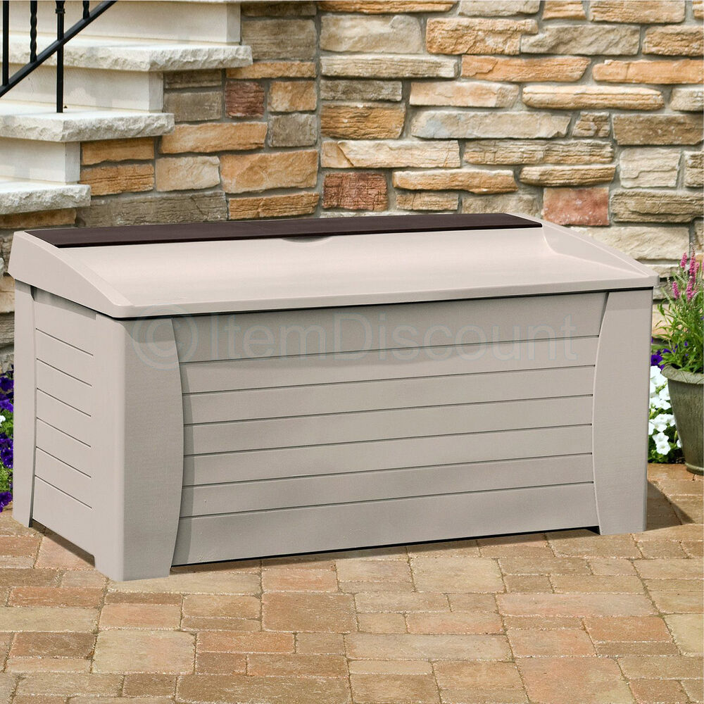 127 Gallon Deck Box Patio Bench Garden Toys Balls Outdoor