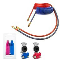 "Coiled Air Hoses One 40"" & One 12"" Lead With Glad Hands ..."