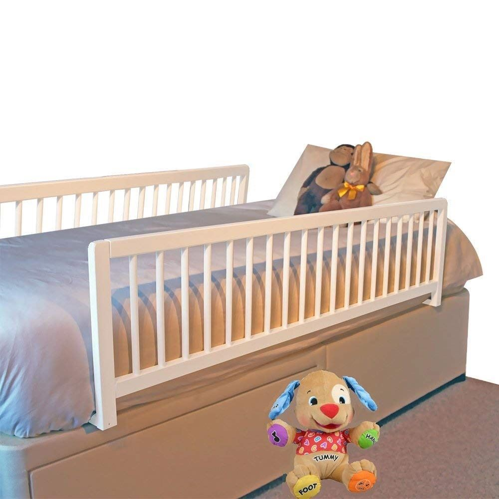 Safetots Extra Wide Double Sided Wooden Bedguard Two