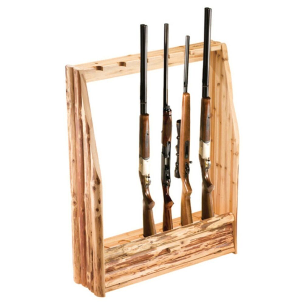 Rush Creek 6 Gun Rifle Shotgun Rack W Storage Drawer