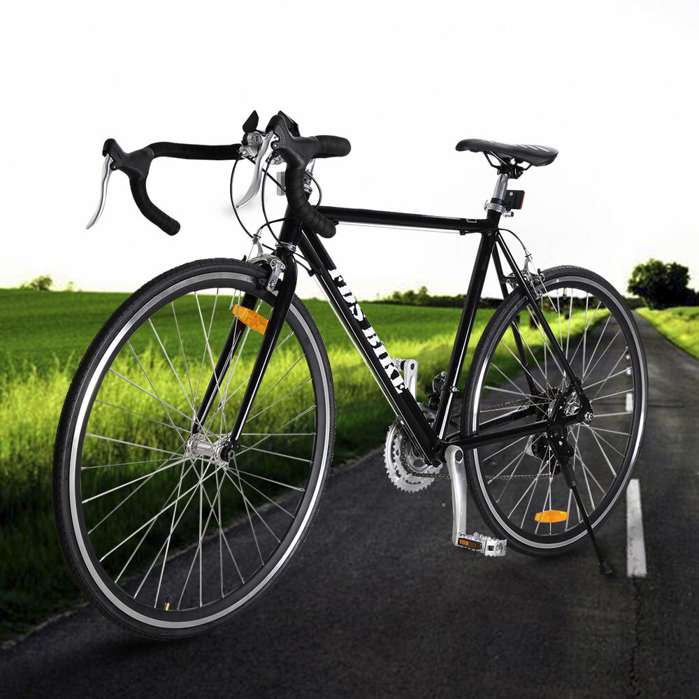 Racing Bike Black Shimano 700c 54cm Aluminum Road/commuter Bike Racing