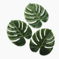 "12 Tropical PALM LEAVES EX-Large 13"" LUAU DECOR Hawaiian ..."