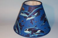 Whale Lampshade Sealife Marine Handmade Lamp Shade