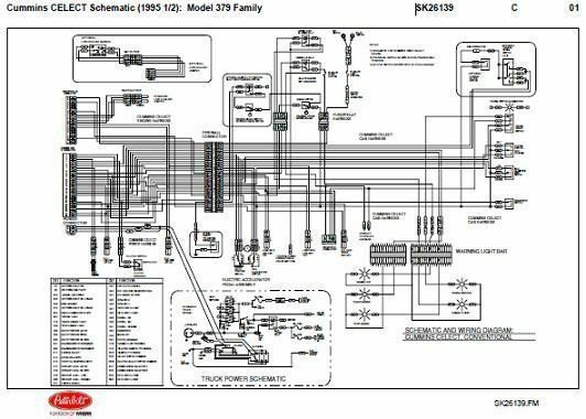 peterbilt 379 engine fan diagram
