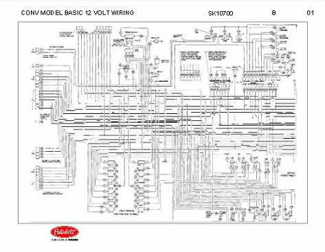 Basic Electrical Wiring Diagrams Lights Series Peterbilt 348 Conventional Models Basic 12 Volt Wiring