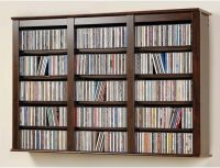 Wall Mounted Storage Cabinet CD DVD Blu Ray Adjustable