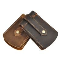 New Men's Genuine Leather Car Key Chain Holder With Clip ...