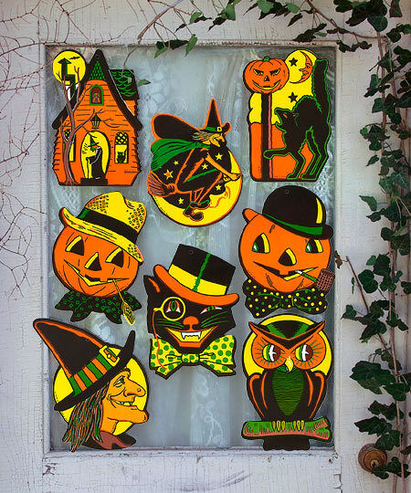 8 Vintage RETRO Styled BEISTLE Repro HALLOWEEN DECORATIONS