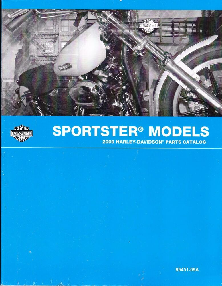 2009 Harley Sportster XL883 XL1200 883 1200 Parts Manual Catalog