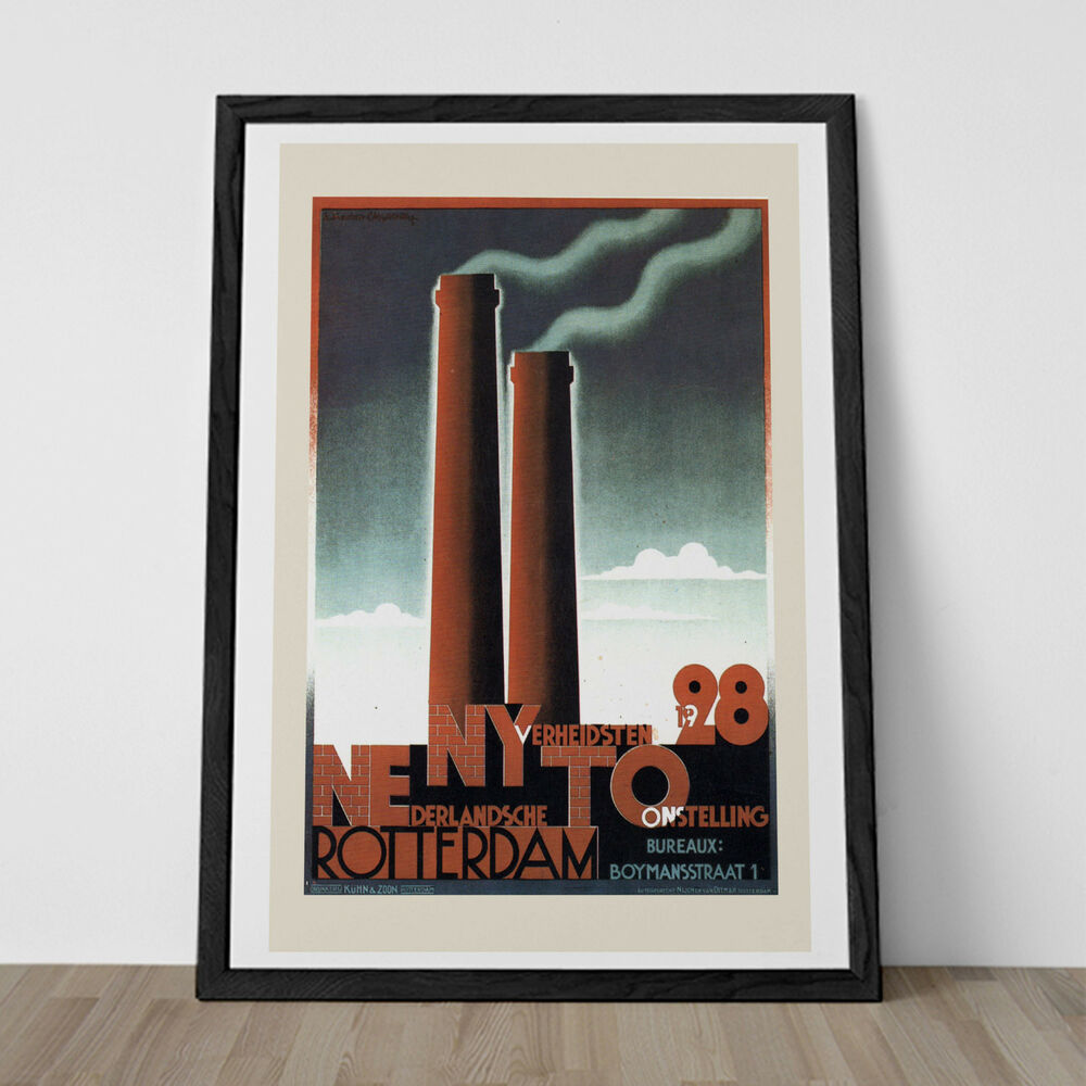 Deco Poster Machine Age Poster Art Deco Poster Rotterdam Poster Art Deco Print Wall Art Ebay