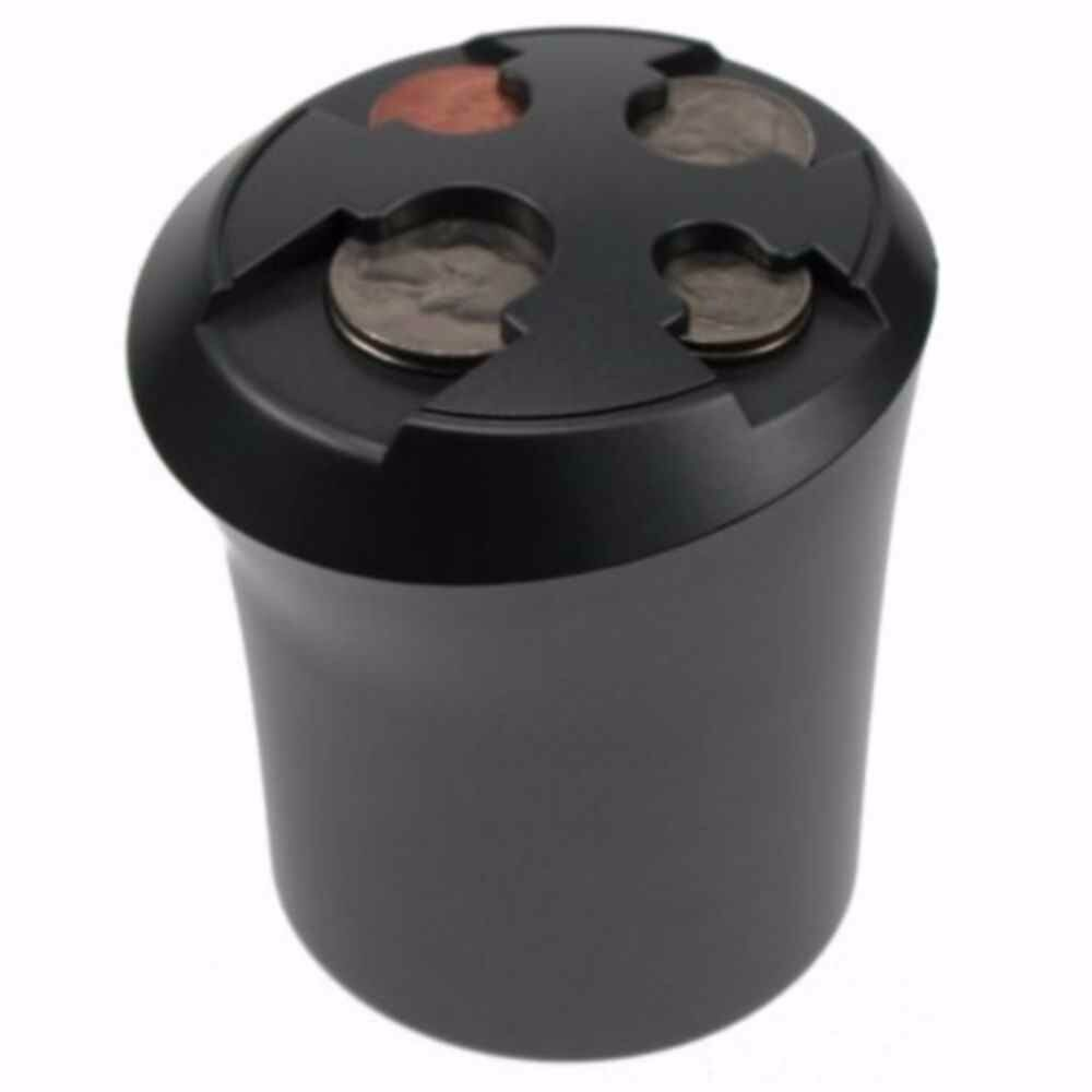 Cup Coin Holder Store Loose Change Dispenser Car Nickels